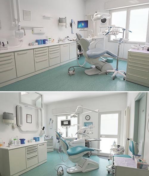 sala 1 e sala 2 studio dentistico massella verona
